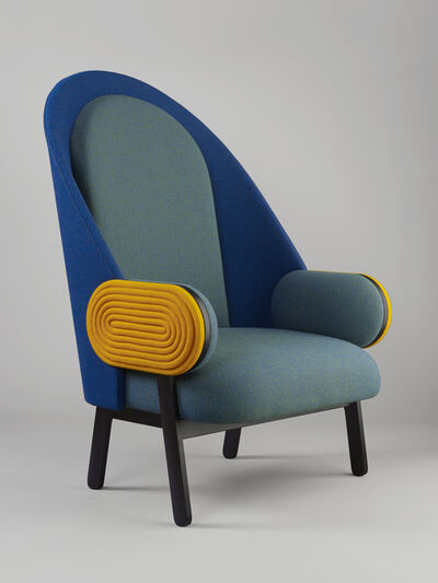 Charles Kalpakian, ''MOON', a Contemporary Armchair with a Vintage Twist', 2015