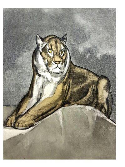 """Paul Jouve, 'Original Etching """"Tiger I"""" by Paul Jouve', 1950"""