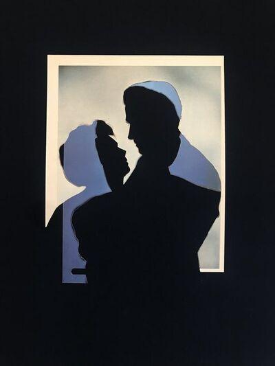 John Stezaker, 'L'Heure Bleue (Blue Double Shadow) I', 2020