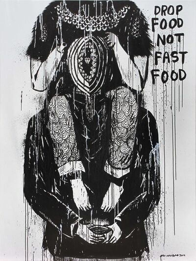 Eko Nugroho, 'Drop Food Not Fast Food', 2012