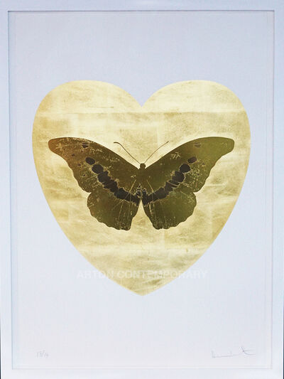 Damien Hirst, 'I Love You, Butterfly, Gold/Gold', 2015