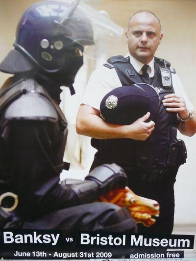 """Banksy, 'BANKSY VS BRISTOL MUSEUM """"POLICE"""" POSTER ', 2009"""
