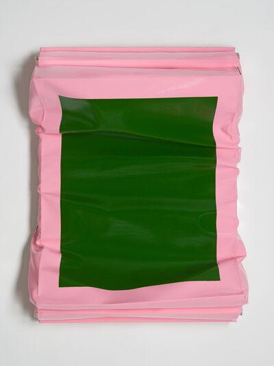 Angela de la Cruz, 'Layers - Small (Sap Green/Brilliant Pink)', 2019