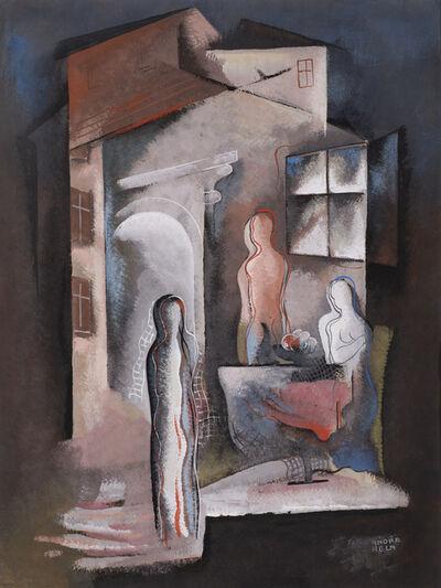 Béla Kádár, 'Three Figures by a Table', ca. 1936-8