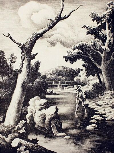 Thomas Hart Benton, 'Shallow Creek', 1939