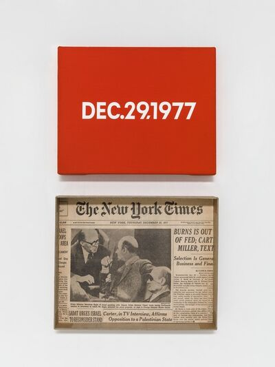"On Kawara, 'DEC. 29, 1977 ""Thursday""', 1966-2013"