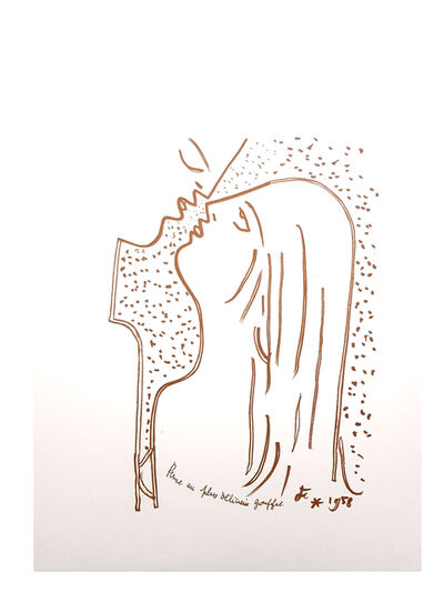 "Jean Cocteau, 'Original Lithograph ""Gulf"" by Jean Cocteau', 1958"