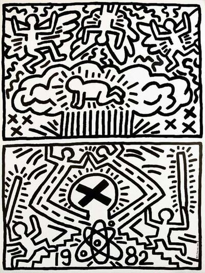 Keith Haring, '1982 Nuclear Disarmament Poster ', 1980's-1990's