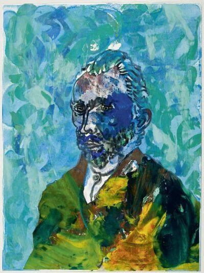 Otto Muehl, 'Selbstporträt Vincent van Gogh St. Remis 1889', 1989