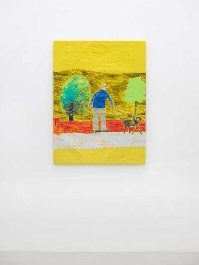 Jenny Watson, 'Father Walking Dog', 2012