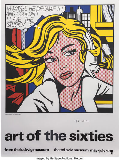 Roy Lichtenstein, 'Art of the Sixties, exhibition poster', 1979
