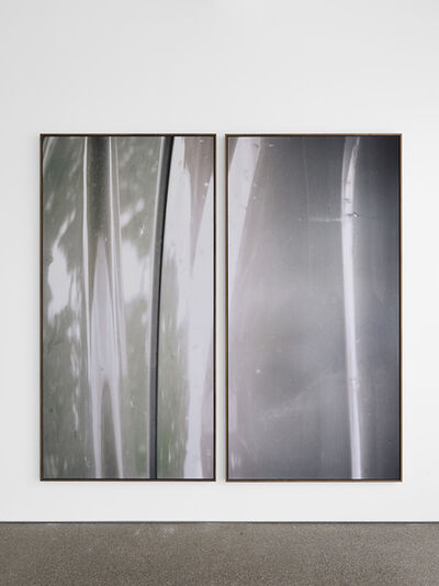 Jan Dibbets, 'Diptych Silver'