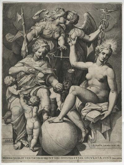 Agostino Carracci, 'Allegory of the Psalm of David', 1579