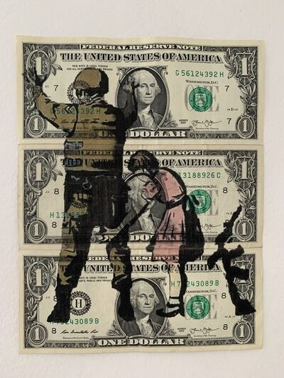 "Banksy, ' BANKSY DISMALAND US DOLLAR ""STOP & SEARCH"", REAL CURRENCY DOLLAR', 2015"