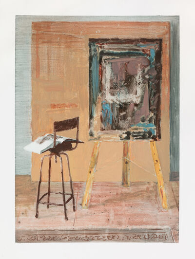 Ian Grose, 'Painting board with Corot', 2017