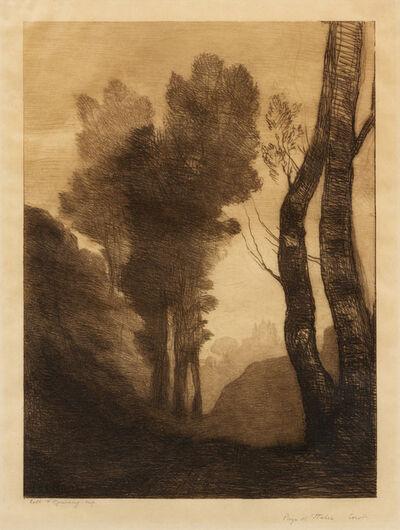 Jean-Baptiste-Camille Corot, 'Environ de Rome', 1866