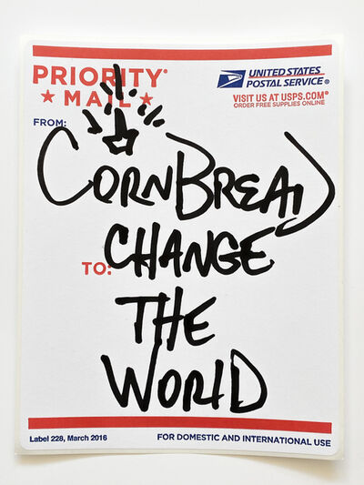 Cornbread, 'Postal Label Series: Change the World II', 2020