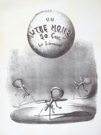 J.J. Grandville, 'Un Autre Monde. 50 cent la Livraison', 1844