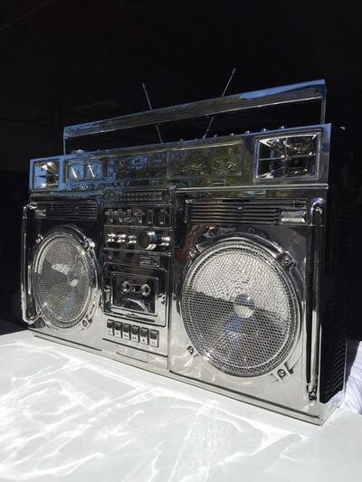 Lyle Owerko, 'Stainless Steel Boombox ', 2019