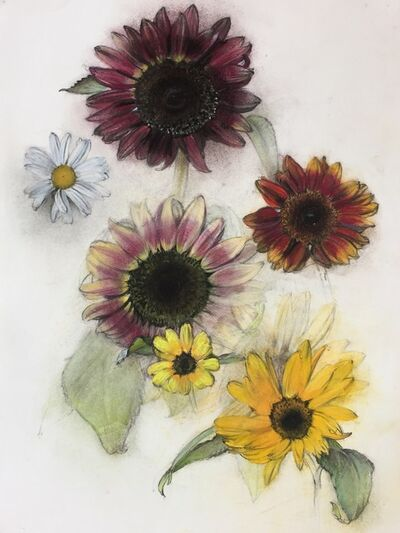 Linda Etcoff, 'Sunflowers and Daisy', 2017