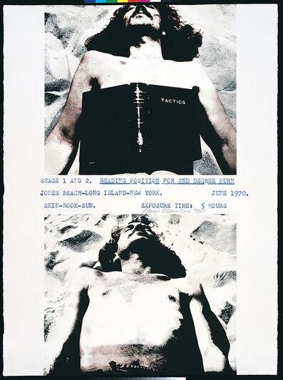 Dennis Oppenheim, 'Reading position for second degree burn', 1972