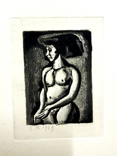 """Georges Rouault, 'Original Etching """"Ubu the King VI"""" by Georges Rouault', 1955"""