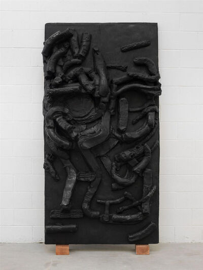 Thomas Houseago, 'Yet to be titled (face wood panel) ', 2012