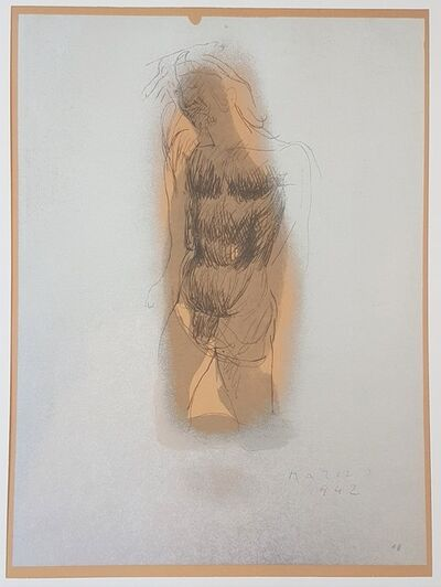 """Marino Marini, 'Christ II - From """"A Suite of Sixty-three Re-creations of Drawings and Sketches in Many Mediums"""" ', 1968"""