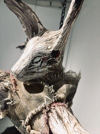 Elizabeth Jordan, 'Sculpture of hare suspended from chain: 'Children 7'', 2020