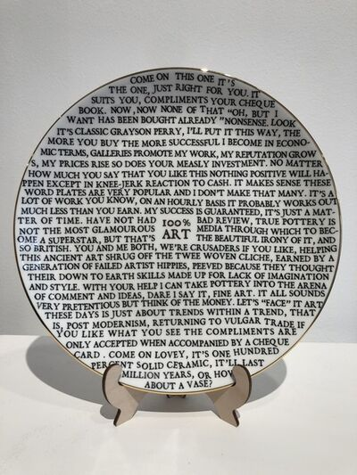 Grayson Perry, '100% Art Plate', 2020