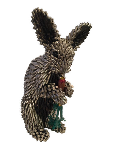 Federico Uribe, 'Silver Rabbit with Carrot', 2017