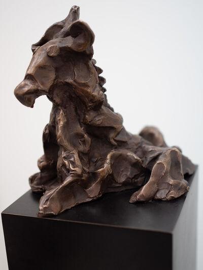 Rainer Fetting, 'Sitzender Hund ( mit Sockel )', 2006