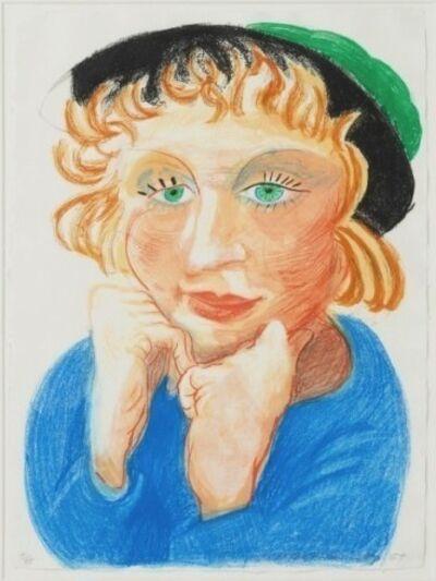 David Hockney, 'Celia with Green Hat', 1984
