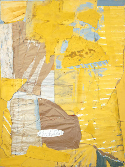 Robert Motherwell, 'Collage in Yellow and White, with Torn Elements', 1949