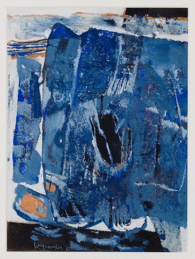 Jaap Wagemaker, 'Compositie in blauw', 1957
