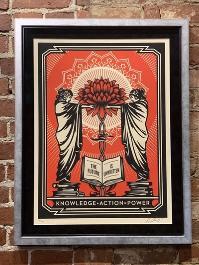 Shepard Fairey, 'Knowledge + Action (Red)', 2018