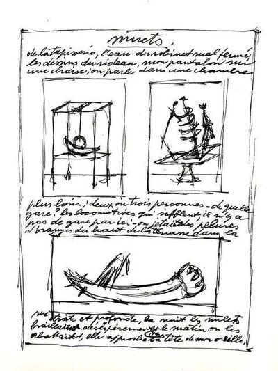 Alberto Giacometti, 'Alberto Giacometti Original Lithograph', 1952