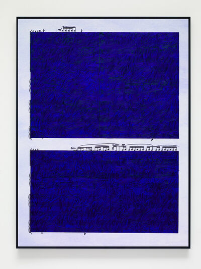 Idris Khan, 'Ultramarine Rhythms 1', 2019