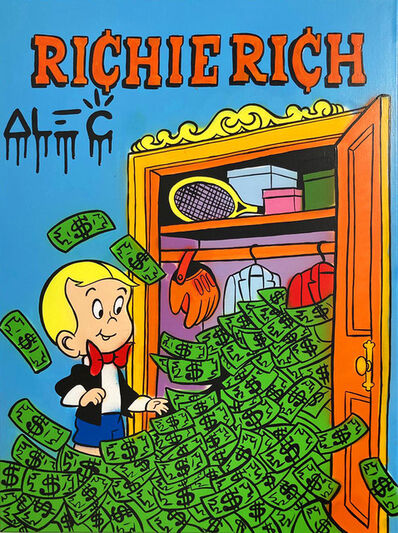 Alec Monopoly, 'Richie Rich Money Closet Painting', 2021