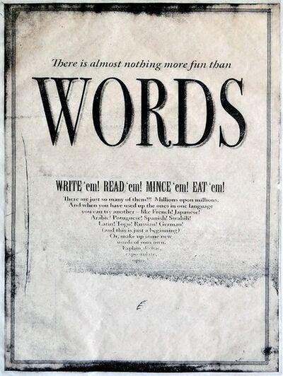 Anne Beresford, 'Words', 2010-14