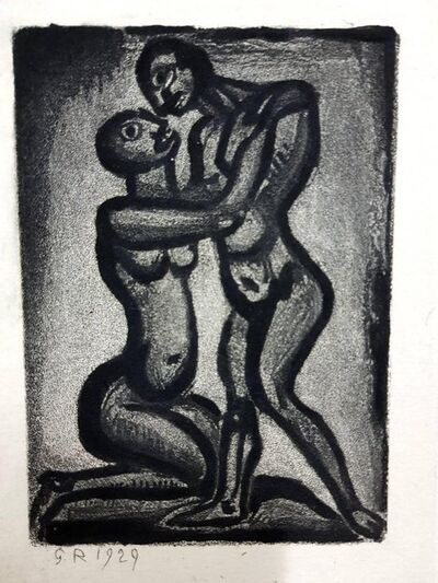 "Georges Rouault, 'Original Etching ""Ubu the King IV"" by Georges Rouault', 1955"