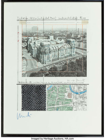 Christo, 'Wrapped Reichtag (Project for Berlin), set of four works', 1994