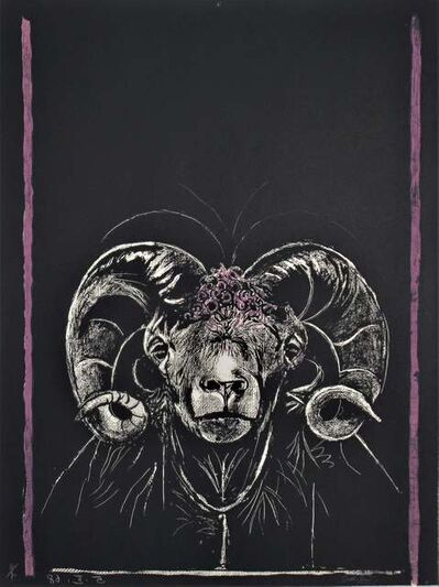 "Graham Vivien Sutherland, '""Ram's Head, Full Face"" from the suite ""Bestiary and some Correspondences"" ', 1968"