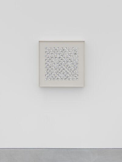Gerhard Von Graevenitz, '143/444 konkave reflektierende Quadrate auf Weiss II', 1963
