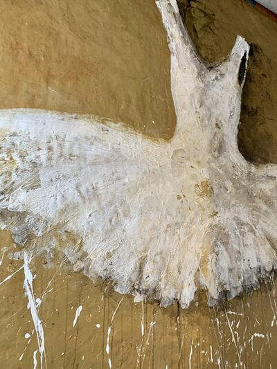 Ewa Bathelier, 'White tutu on Gold', 2019