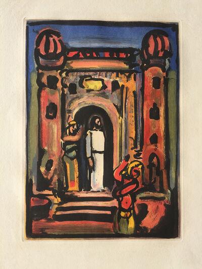Georges Rouault, 'Passion Suite: Christ aux Portes de la Ville', 1935