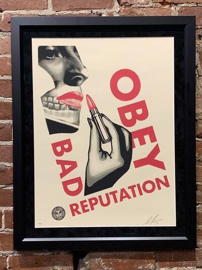 Shepard Fairey, 'Bad Reputation (Cream)', 600