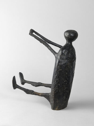 Kenneth Armitage, 'Seated Figure with Arms Raised (small version)', 1957