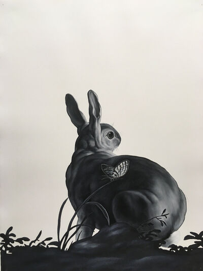 Shelley Reed, 'Rabbit and Butterfly (after de Heem and Desportes)', 2020