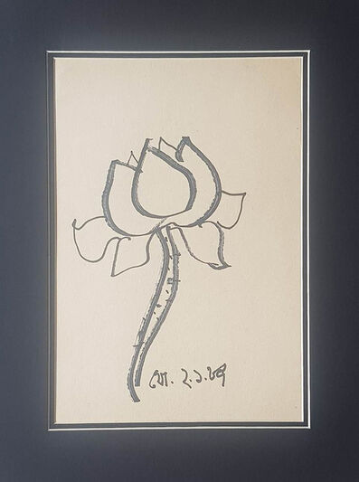"""Jogen Chowdhury, 'Untitled, Ink on Paper by Modern Indian Artist """"In Stock""""', 1987"""